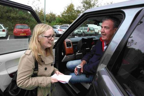 Bournemouth Echo: Reporter Alex Winter chats to Jeremy Clarkson