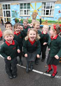 Children at Broadstone First School. Picture by Richard Crease.