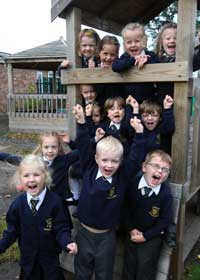 Children at St Joseph's RC Combined school in  Poole. Picture by Richard Crease. First Class.