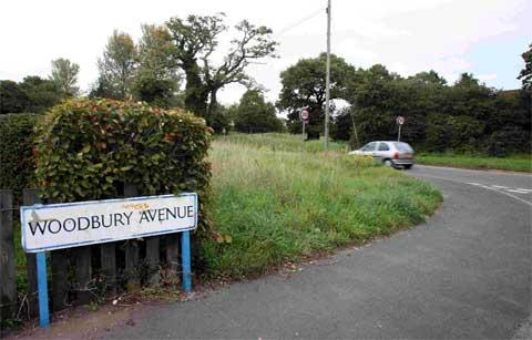 CONTROVERSIAL: The planned site at the junction of Woodbury Avenue and Throop Road