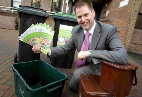 IN IT TO BIN IT: Steve Burdis, director for Dorset Waste Partnership