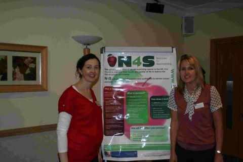 ORGANISERS: Grainne Ford, dietetic manager at Royal Bournemouth Hospital, left, and Dr Jane Murphy
