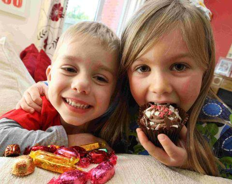 CHOCS AWAY: Daisy gave up sweets, cakes and chocolate for her brother