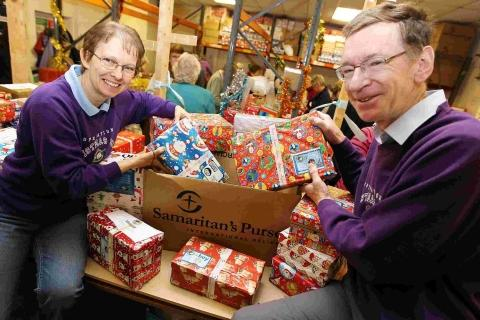 Meet Santa's Elves: the 140 people running Dorset's Operation Christmas Child