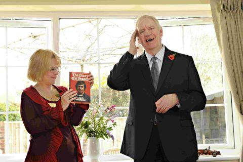 OPEN: Kathy Milsom with Lawrie McMenemy