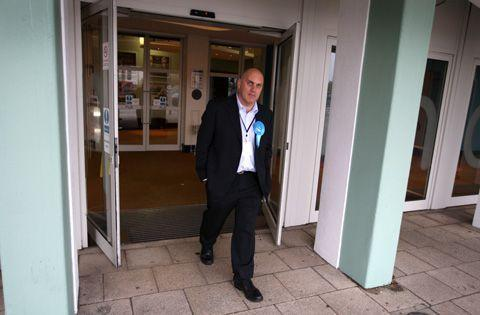 Bournemouth Echo: Conservative candidate Nick King leaves the count
