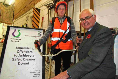 MILESTONE: High Sherriff of Dorset, Jeremy Pope meets a community payback worker