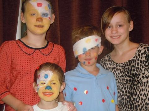 Bournemouth Echo: Ellis and Juliet and twins Lisa and Amy Mann from Hamworthy raise money for Children in Need