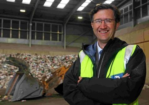 Shaun Robson, head of environmental and consumer protection services for Borough of Poole at the new Household Waste Recycling Centre on the Nuffield Industrial Estate