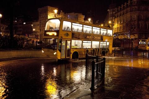 Flooding in the Square on Thursday night
