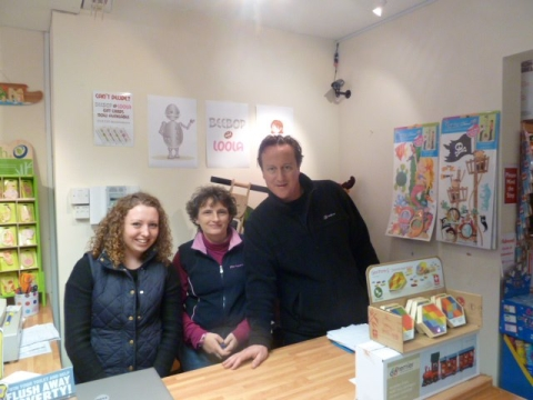 David Cameron enjoys time off in Wimborne