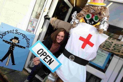 Vanessa Marsh at the new Dorset Scrapstore in Boscombe