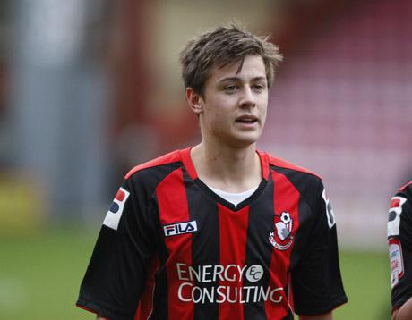 GOAL: Harry Cornick on the field for Cherries this afternoon