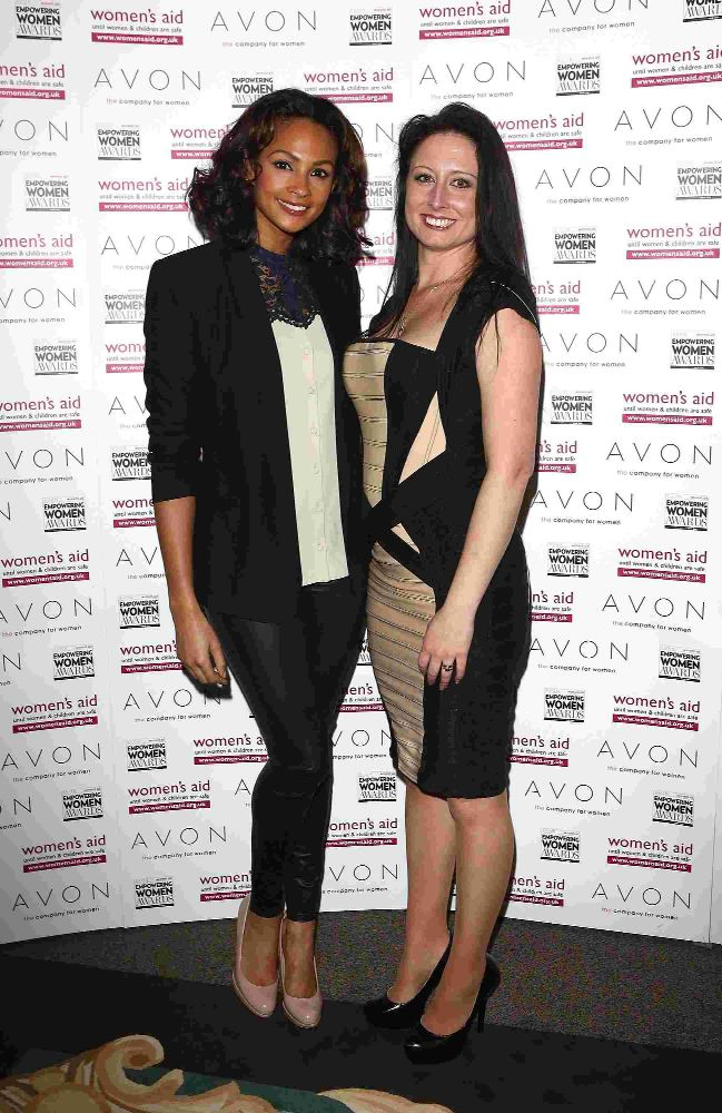 EMPOWERED: Alisha Dixon and winner Charlotte Fantelli at the Empowering Women Awards in London