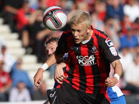 BIG YEAR: AFC Bournemouth striker Jayden Stockley
