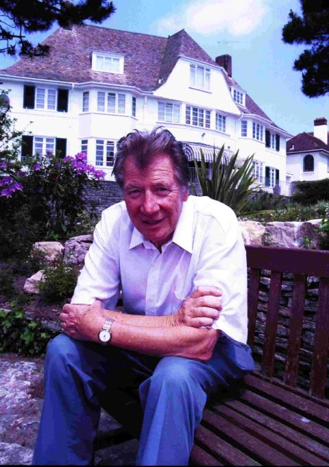 Max Bygraves at his former home in Bournemouth