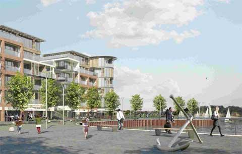 DECISION TIME: An artist's impression of the proposed generation at Blandford Road, Hamworthy