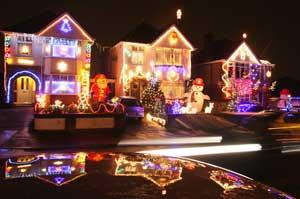 Christmas lights on Runton Road in Branksome. Picture by Richard Crease.