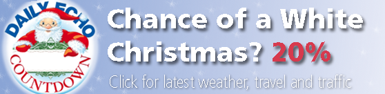 Will it be a white Christmas? Current chances: 20%. Click for the latest weather, traffic and travel.