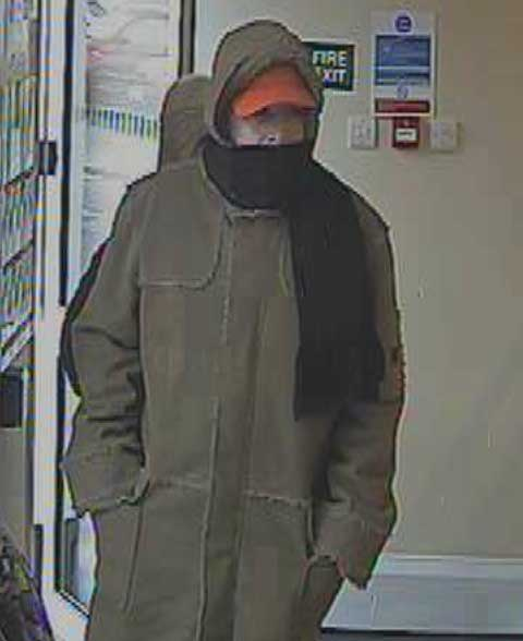 UPDATED: CCTV image of man sought after bank robbery