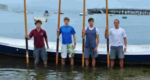 OARSOME FOURSOME: Max Burridge, Ted Burridge, Tom Lavin and James Graham