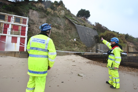 VIDEO: Beach closed off after landslip at Swanage