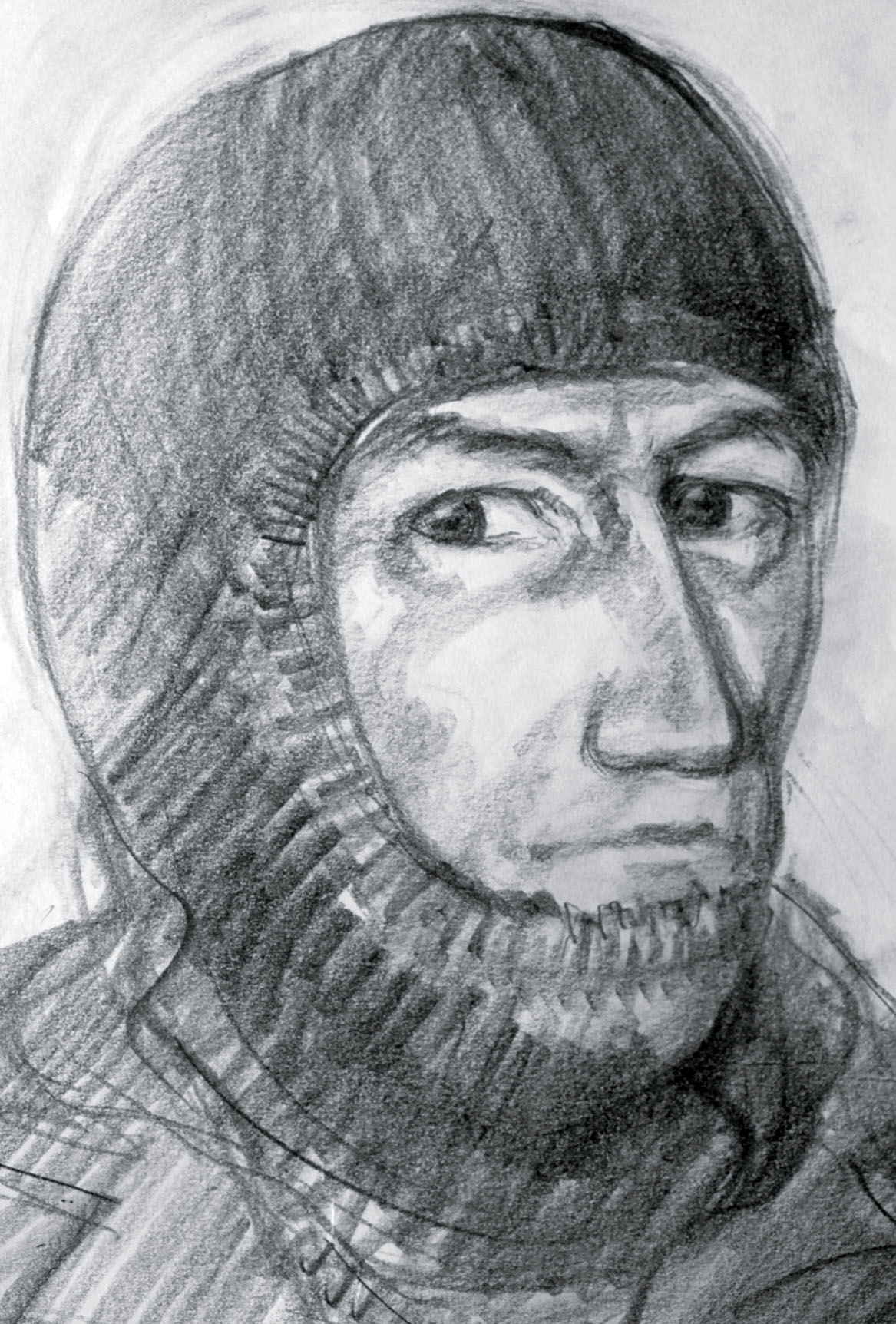 An artist's impression of the gunman in the New Forest