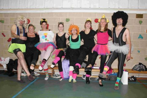 CHIP OFF THE YOUNG BLOCK: Some of the mums and dads who danced their way through the ballet examinations to raise £3,456 for the Echo-backed Sparkle Appeal