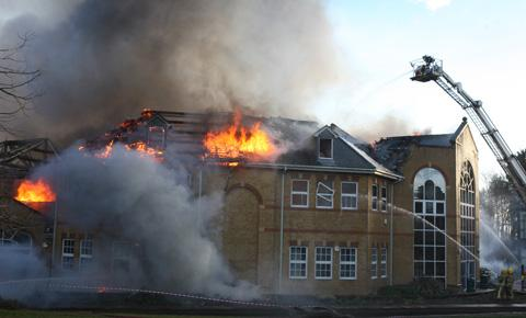 Pupils return to Lytchett Minster School after blaze