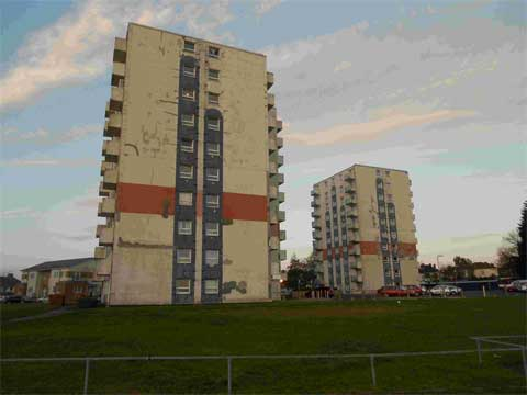 FACELIFT: The Sterte Court flats, which are set to undergo a £7million with the help of occupants money