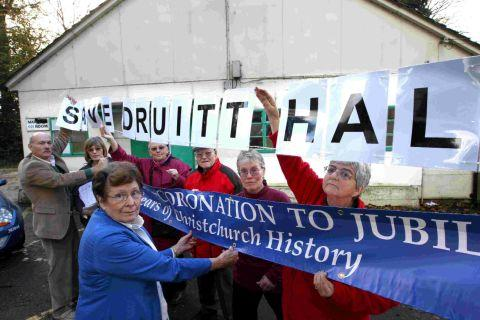 Supporters of the Druitt Hall in Christchurch