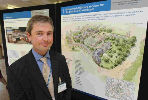 ON SHOW; Richard Renaut, from the Christchurch Hospital Development Team, with the plans