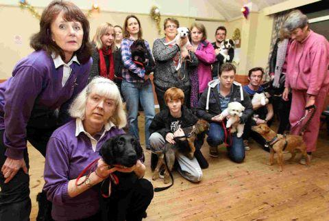 SAD TAILS: Nicky Smith, second from left, and Christine Walton, far left, with club members	Picture: Sally Adams