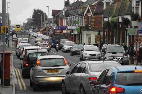 CONCERNS: A section of Ashley Road, Parkstone, which is to be included in the Borough of Poole Air Quality Management Area.