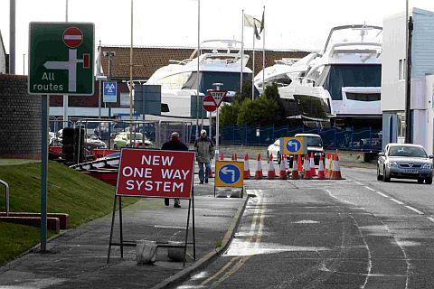 FLAWED: The one-way road system around Poole's two bridges was found to be seriously flawed by Poole Council's economy overview and scrutiny committee. Pictured is West Quay Road looking towards Hamworthy
