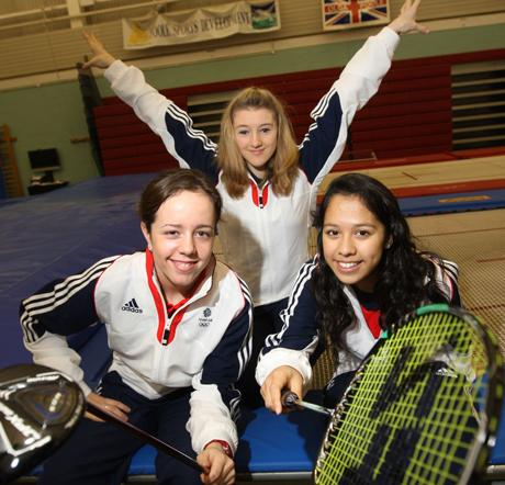 TOP TRIO: (left to right) Georgia Hall, Izzy Songhurst and Lynnlette Aung