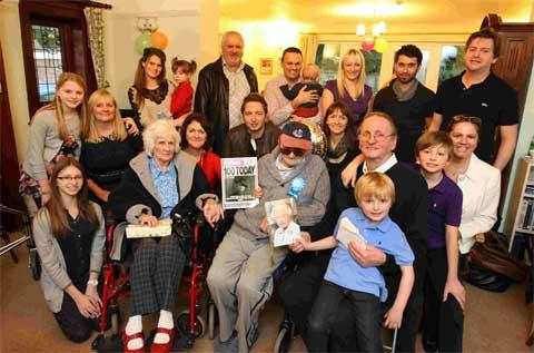 HOORAY! Stanley Whitbread celebrates his 100th birthday surrounded by his family