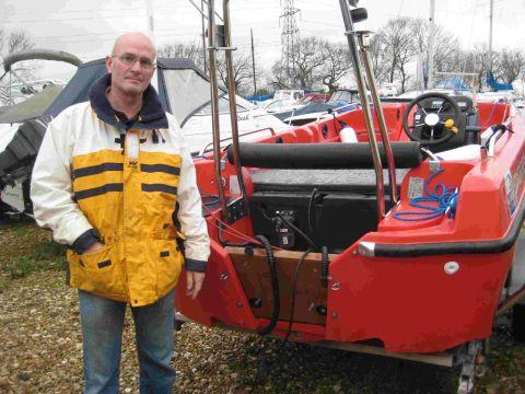 REELING: Poole Sailability volunteer instructor Phil Berry