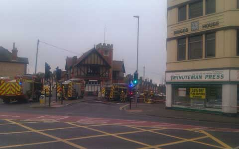 UPDATED: Fire at building in Ashley Cross