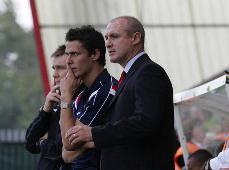 EX-BOSS: Jimmy Quinn with current assistant manager Jason Tindall