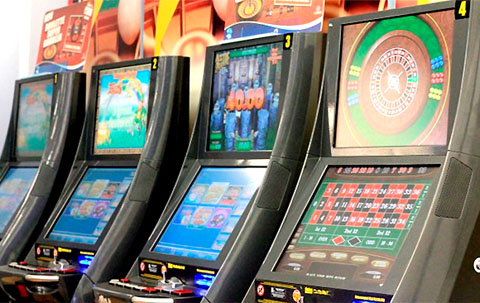 RAID: A file picture of some gambling machines