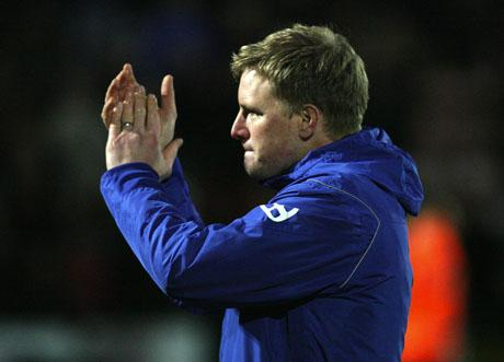 WIGAN TEST: Eddie Howe