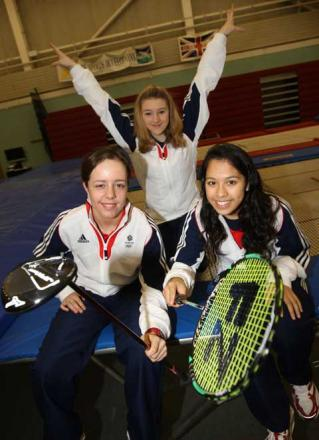 Golfer Georgia Hall, Trampolinist Izzy Songhurst and Badminton player Lynnlette Aung