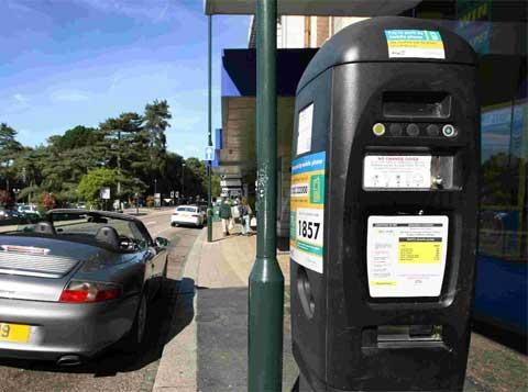 MONEY EATING: A parking meter in Westover Road, Bournemouth.
