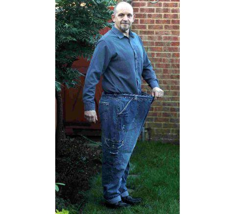 Bournemouth Echo: Super slimmer Charlie Bosch with a pair of his old jeans