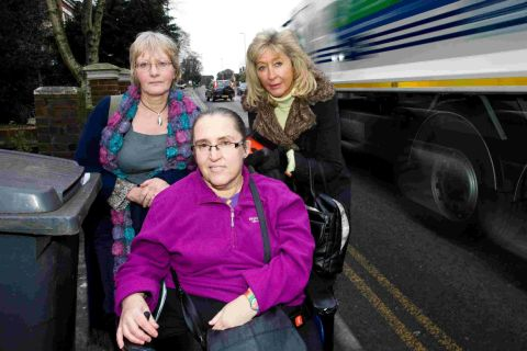 Ashley Road like a slalom course, say disabled residents