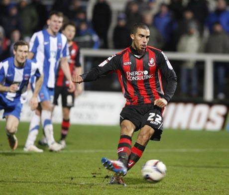 SPOT ON: Lewis Grabban scores from the penalty spot