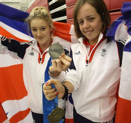 DORSET MEDALLISTS: Izzy Songhurst and Georgia Hall (right)