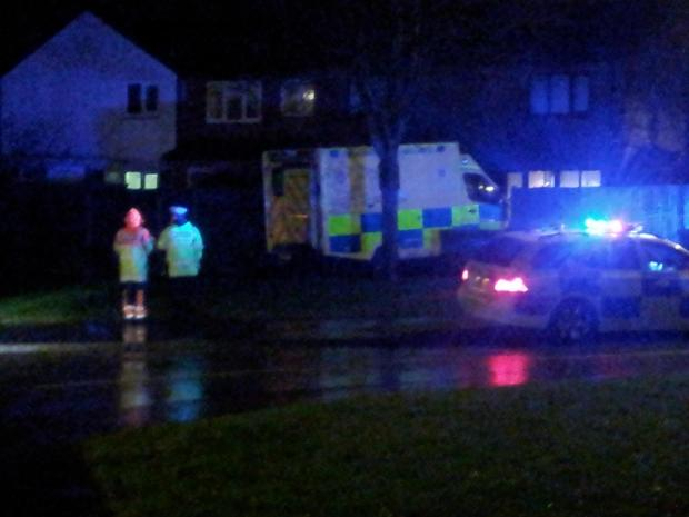 Ambulance crashed into garden in Poole