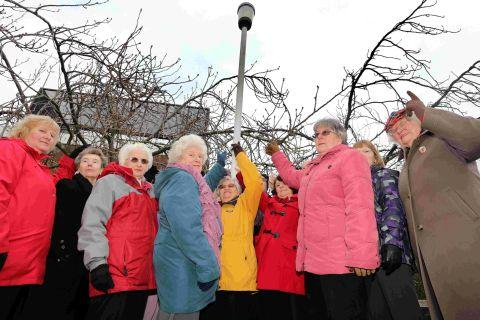 Canford Heath Townswomen's Guild members are complaining over lights in Adastral Square car park that have been turned off